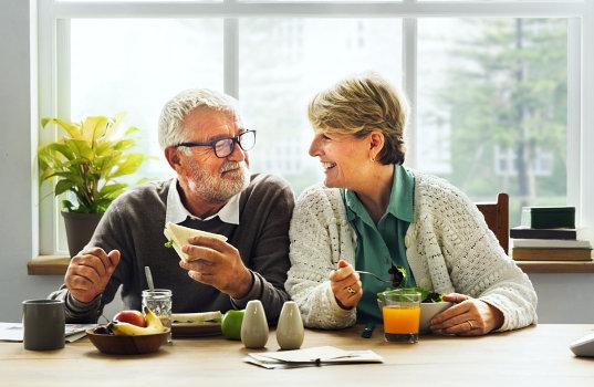 two elderly couple